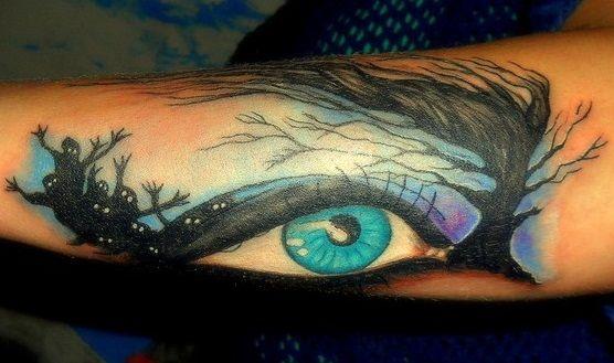 oczy tatuaże