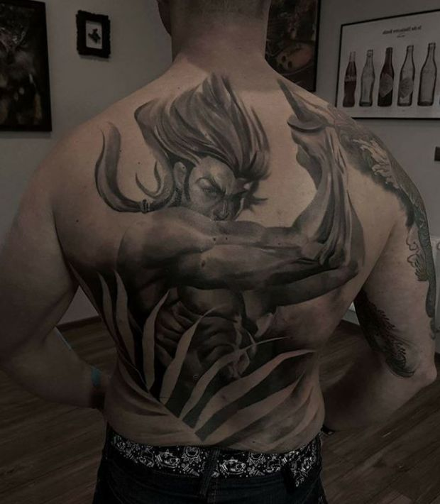 Anime tatuaże wzory na plecy