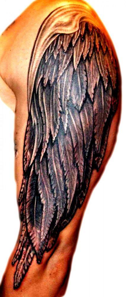 Skrzydło Anioła Tatuaże Na Ramieniu