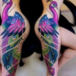 tatuaże pawie