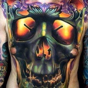 tatuaże kolorowe czaszki